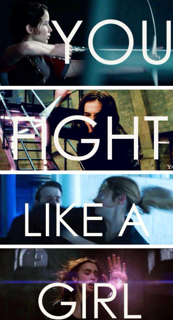 Katniss, Rose, Tris, Clary