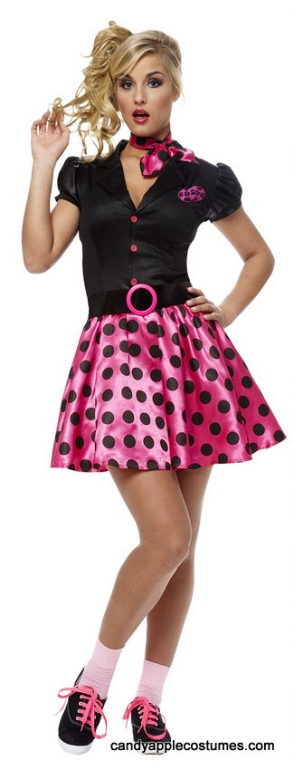Adult Sexy 50's Sock Hop Costume - Candy Apple Costumes - 50's Costumes