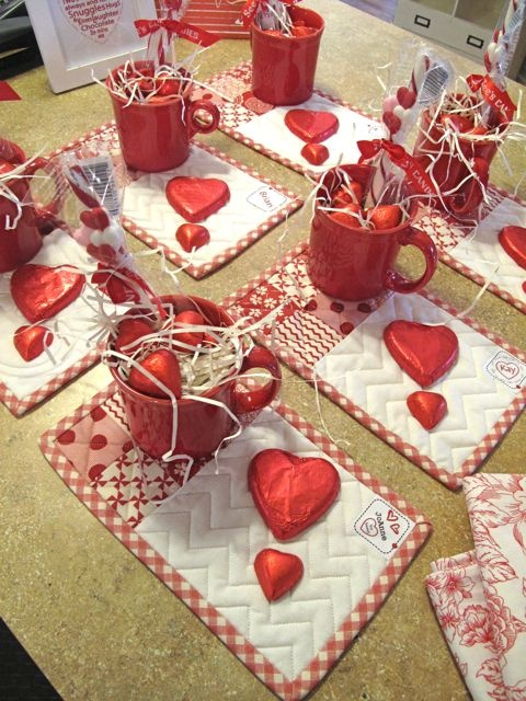 Hollyhill Quilt Shoppe & Mercantile, LLC - Mama Said Sew Valentine's Mug Mat