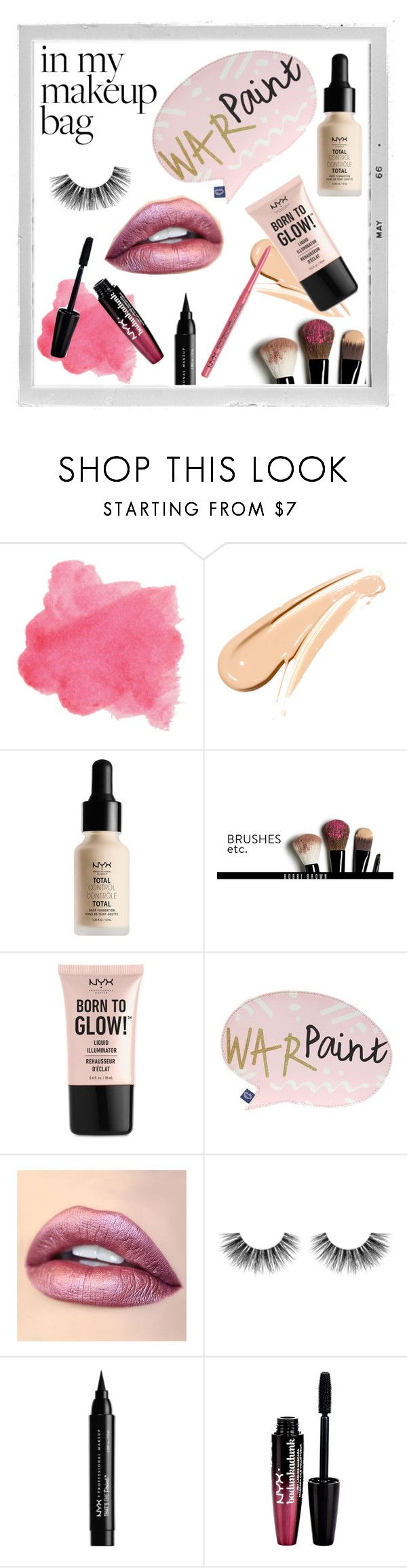 """War Paint 💋"" by rougered19 ❤ liked on Polyvore featuring beauty, Polaroid, NYX, Bobbi Brown Cosmetics, Disaster Designs, Jouer, Velour Lashes and Charlotte Russe"