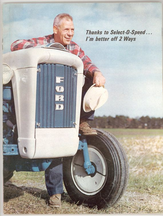 1963 Ford 4000 & 6000 Series Tractor with Select O Speed,  Advertising Brochure from the Ford Motor Company. Vintage Paper Ephemera, Evanciew Tractor Sales, rome New York . For sale by Professor Booknoodle $17.50 SOLD
