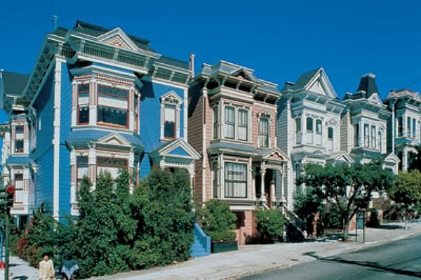 San franciso victorian row houses places i 39 ve been for San francisco victorian houses