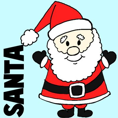 easy instructions for how to draw santa clause for kids misc pinterest santa christmas drawing and christmas