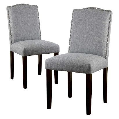 Target - Threshold™ Camelot Nailhead  Dining Chair - Set of 2 - Dove Gray - $169.99 ($85)