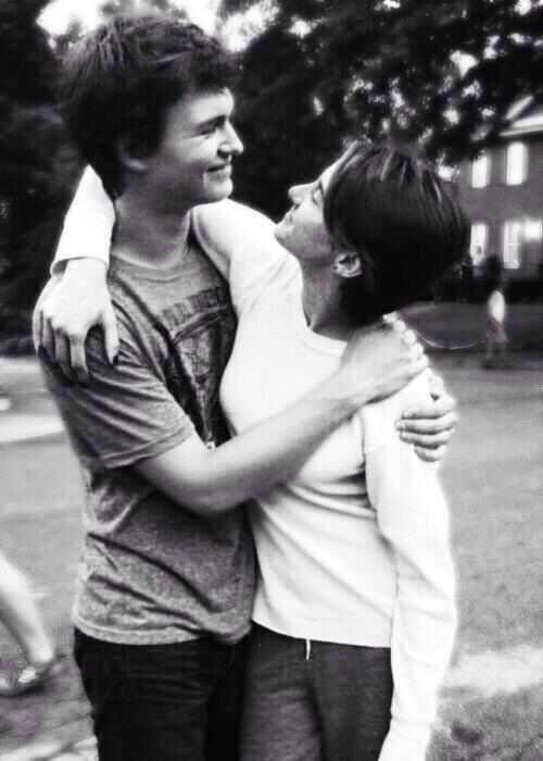 Ansel Elgort as Augustus Waters & Shaliene Woodley as Hazel Grace in The Fault In Our Stars