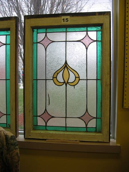 Find great items at The ReUstore's auction like this great Antique Art Nouveau Stained Glass. This item is in the auction until April 14th. For more information visit www.ccs4u.org or call 905-857-7824