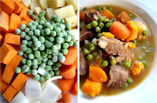 Baby food beef stew