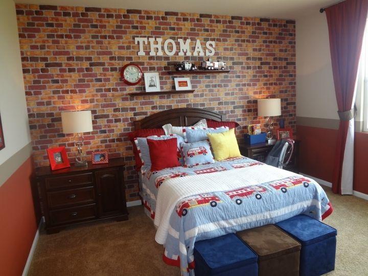 brick wallpaper bedroom decoration - Brick Kids Room Decor