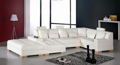 Vig Furniture Divani Casa Florence Modern White Leather Sectional Sofa