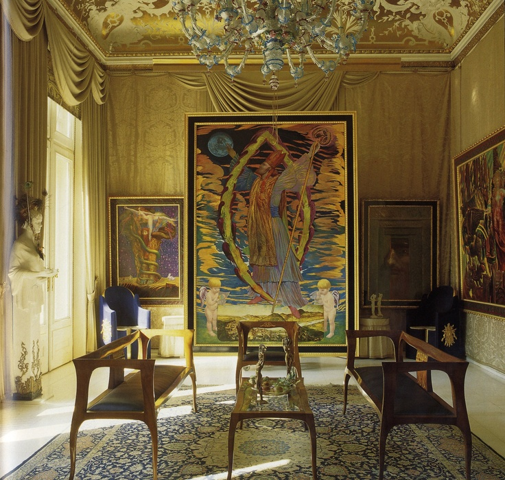 Spectacular Otto Wagner us neo Tuscan villa tripped it out by Ernst Fuchs