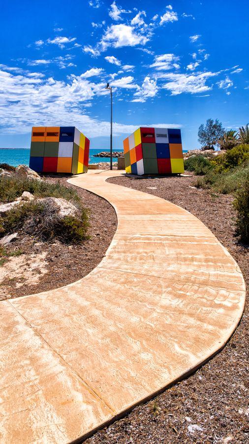 Rubik Cube Lavatories in Forrest Street , Geraldton , WA.
