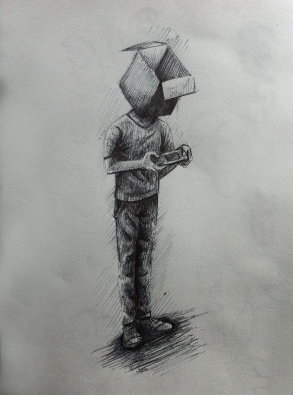 box #illustration #sketch - Diego Cáceres