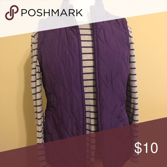 Purple Vest and long sleeve top Croft and borrow purple Vest and striped top to match. Great condition. 10.00 for both pieces croft & barrow Jackets & Coats Vests
