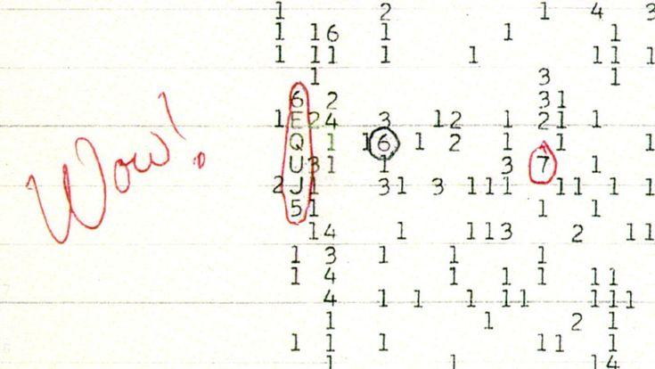 """""""Wow!"""" schrieb Astrophysiker Jerry R. Ehman am 15. August 1977 neben eine Kombination aus Buchstaben und Zahlen. Dieses sogenannte """"Wow-Signal"""" entfachte eine heiße Diskussion unter Wissenschaftlern und Hobby-Astronomen. Bis heute ist man sich nicht einig darüber, ob dieses Signal intelligenten Ursprungs ist oder einfach die starke, einmalige Strahlung eines Neutronensterns."""