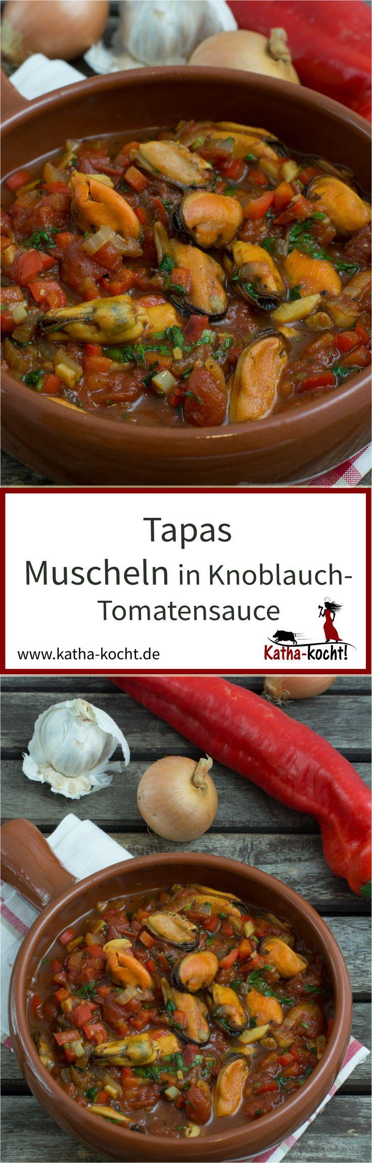 Miesmuscheln in Knoblauch-Tomaten-Sauce sind einfach tolle Tapas – sie sind frisch, mit …   – Katha-kocht! – Alle Rezepte