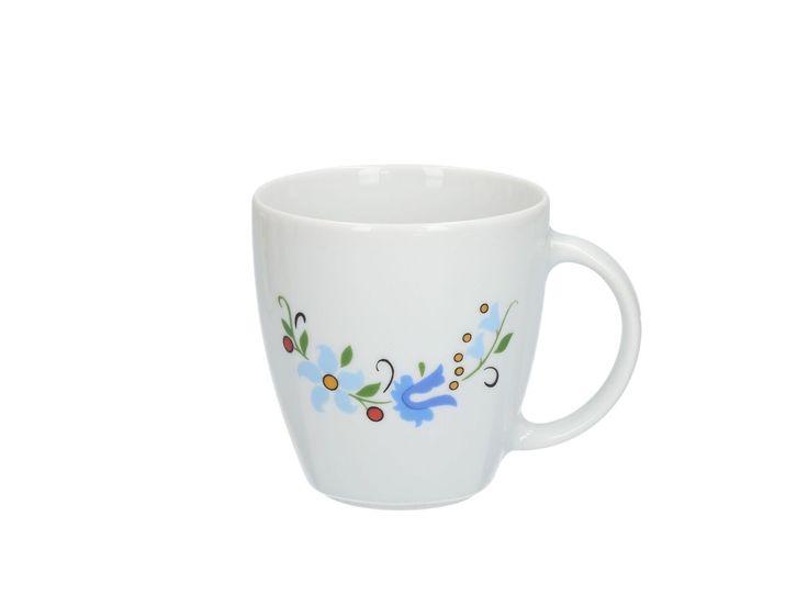 Kaszubski kubek porcelana Lubiana (Wiktoria) :: Czec Kaszubskie i pomorskie książki i upominki. Niezwykłe pamiątki ludowe, których jesteśmy producentem.