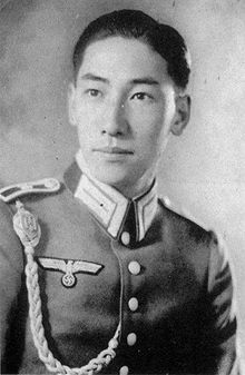 Chiang Wei-kuo, adoptive son of Chiang Kai-shek, as officer candidate in the Wehrmacht.  Took part in the Austrian Anschluss but returned to China in 1939.