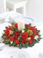 Christmas Candle Table Arrangement