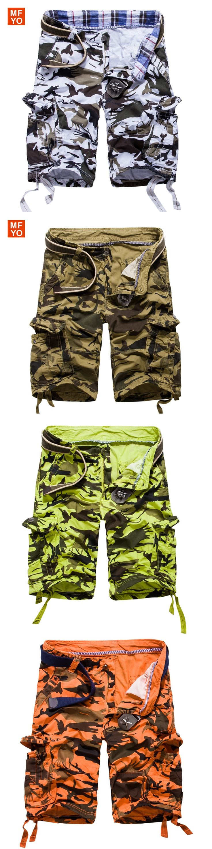 2016 Military Male Board Shorts Summer Men's Camouflage Army Cargo Shorts Workout Shorts Homme Casual Bermuda Trousers plus size