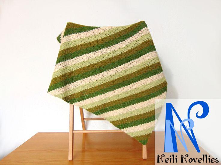 """C2C crochet baby blanket """"Meadow"""""""
