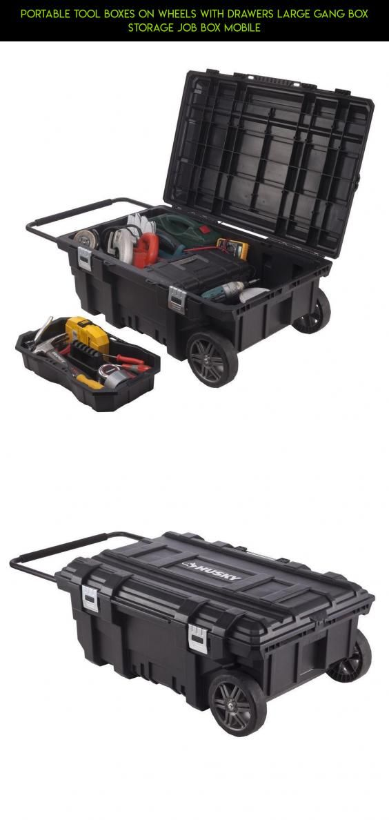 Portable Tool Boxes On Wheels With Drawers Large Gang Box Storage Job Box Mobile #tech #fpv #camera #kit #racing #drawers #shopping #storage #plans #wheels #parts #drone #on #gadgets #products #technology