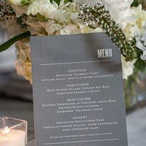 gray menu cards