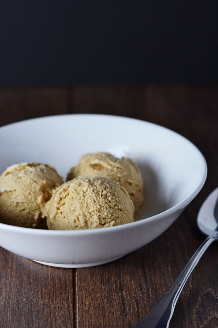 Salted Caramel Ice Cream {Raw, Vegan, Paleo} - Made from only Coconut Cream, Vanilla Bean & Coconut Sugar