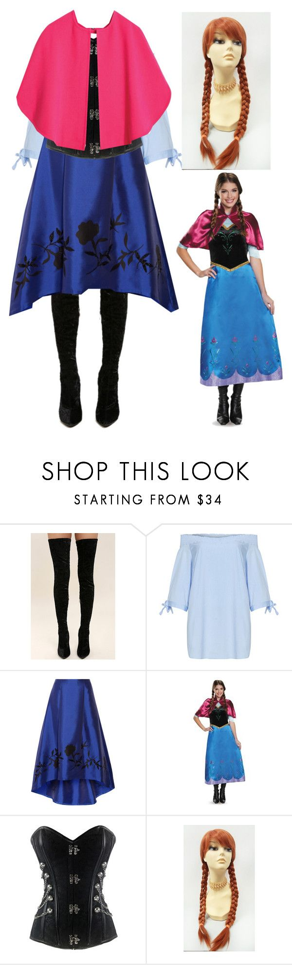 """""""Anna Cosplay"""" by galaxygal123 ❤ liked on Polyvore featuring Cape Robbin, Manon Baptiste and NOIR Sachin + Babi"""