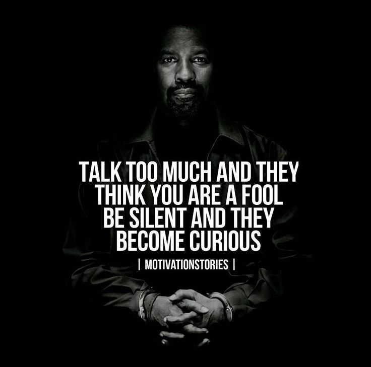 Be silent and make them curious! #motivationstories