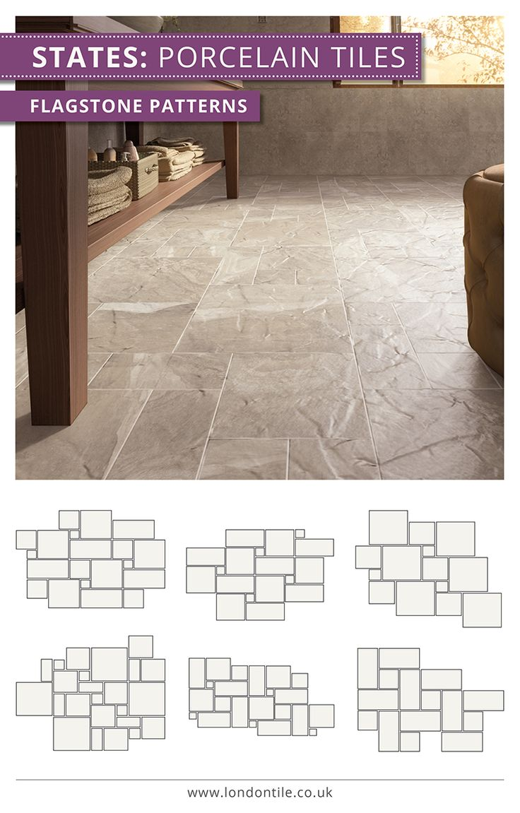 53 best diy tiling tips images on pinterest subway tiles lay your floor tiles in a variety of ways with our flagstone patterns shown here dailygadgetfo Image collections