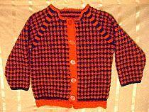 sweterek czerwono granatowy
