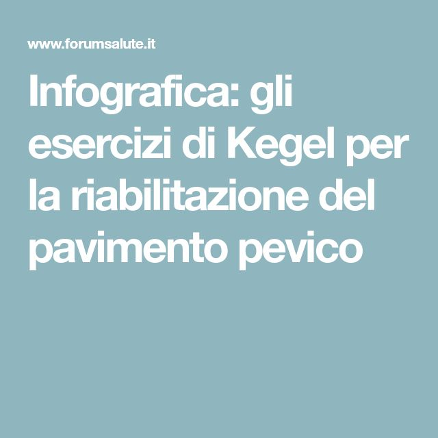 Infografica: gli esercizi di Kegel per la riabilitazione del pavimento pevico