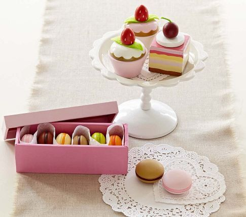 Dessert Play Food Sets | Pottery Barn Kids - might have to get this for Olivia if it's still around. How cute is that?!