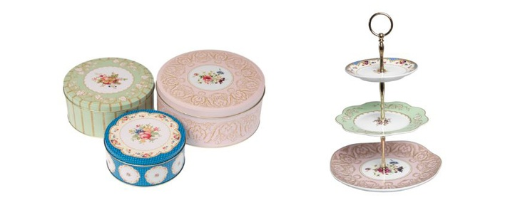 Regency cake tins and cake stand available from www.heartandhome.co.za