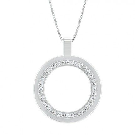 Bella Diamond Necklace in Platinum 950