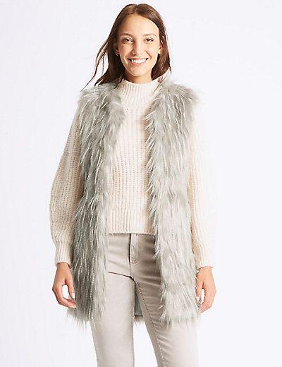 J2017 Faux Fur Gilet | M&S