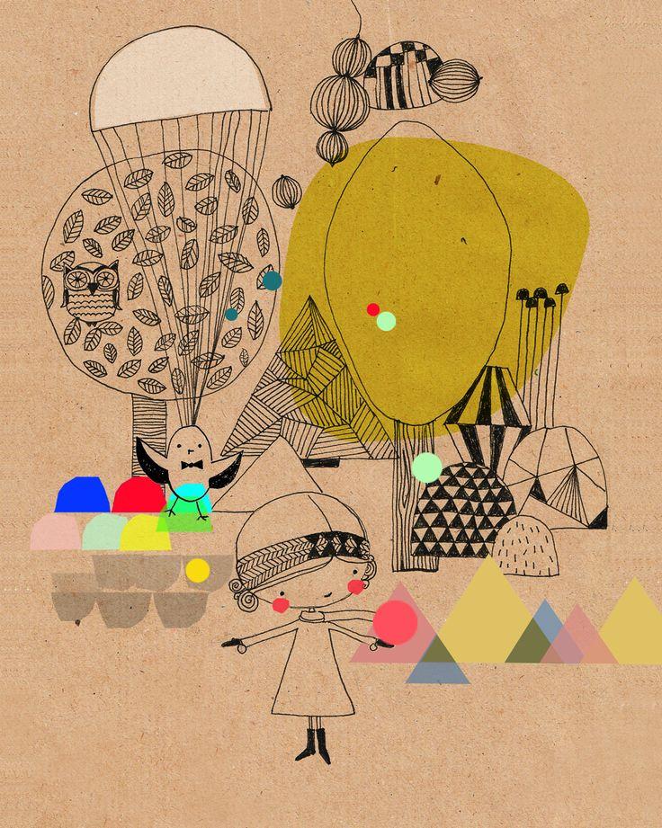 Beautiful Illustration  Swantje & Frieda - buy here