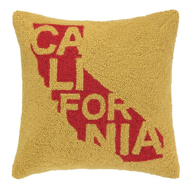 California State Icon With Name Throw Pillow from California Republic Clothes