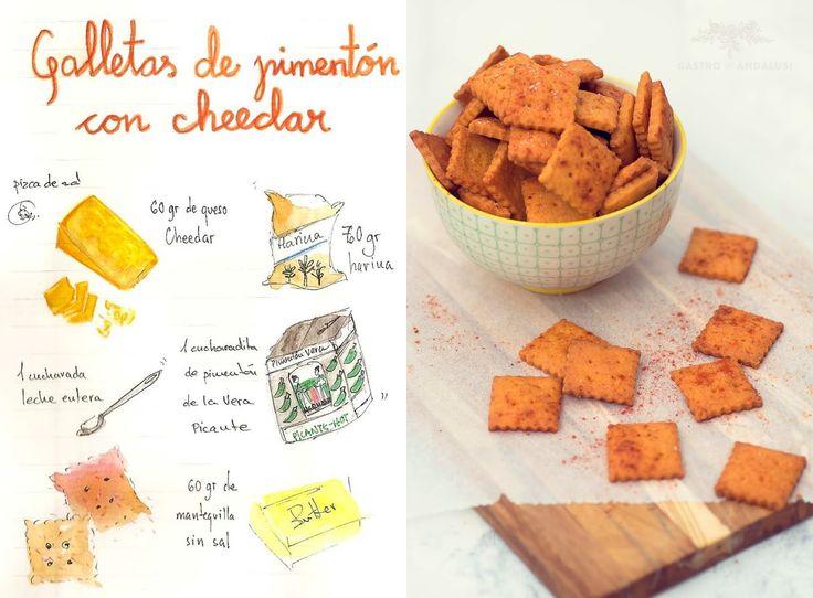Un snack irresistible: galletitas picantes de pimentón y cheedar  http://cocina.facilisimo.com/blogs/recetas-primeros/galletitas-picantes-de-pimenton-y-cheedar_1229163.html?aco=16u6&fba