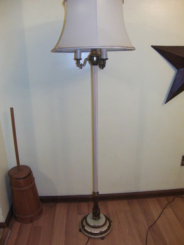 17 best images about love of ebay on pinterest gone with for Antique floor lamp with nightlight in base