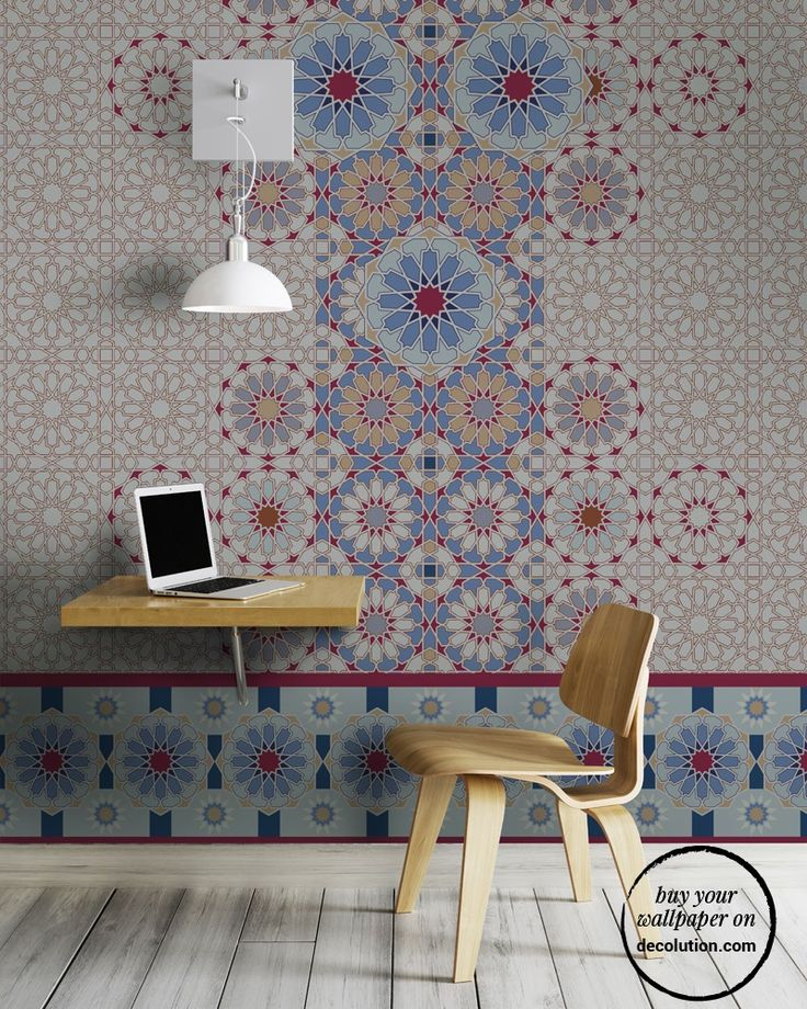 Santorini - Antique traditional design revisited to decorate the walls of the house with Mediterranean style. Typical tiles become cheerful decorative motifs suitable for all home environments. www.decolution.com #wallpaper #cartadaparati #cartedaparati #papelpintado #papierpeint #tapete #wallcovering #designityourself #DIY #wallpapershop #wallpaperonline #wallcovering #interiordesign #homedecoration #home
