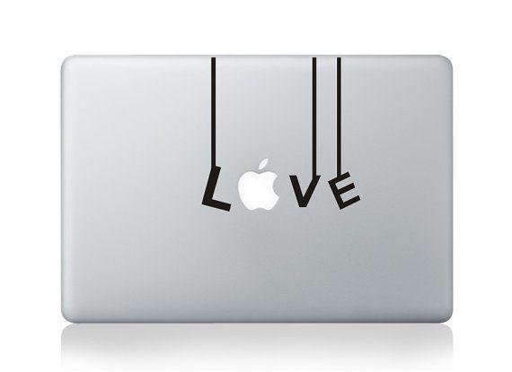 Love (2)- Macbook Decal Macbook Stickers Mac Decals Apple Decal for Macbook Pro Air / iPad / iPhone