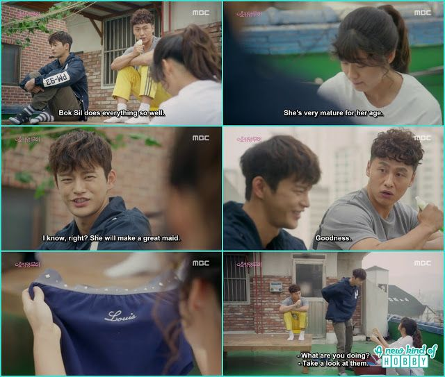 louis snatch his underwear from bok shil while she doing the laundry - Shopping King Louis
