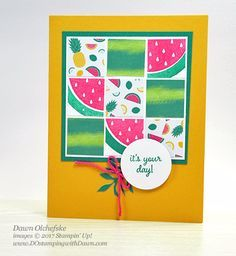 June 2017 Paper Pumpkin One in a Melon projects by Dawn Olchefske #dostamping