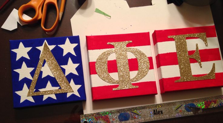 Wall letters I made for my big! #dphie letters #soroity