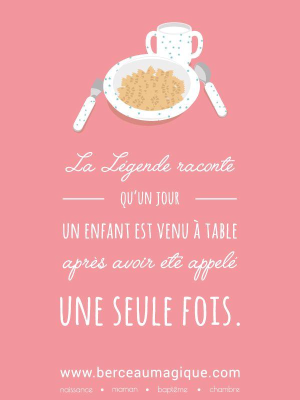 Légendes urbaines... #citation #berceaumagique #legendesurbaines #atable #repas #cestpret