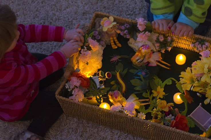 """Love the addition of the battery-operated night-lights to the 'In the Fairy's Night Garden' small world play ("""",)"""