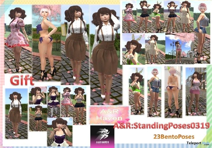 Standing Bento Pose Pack 0319 Gift by A&R Haven
