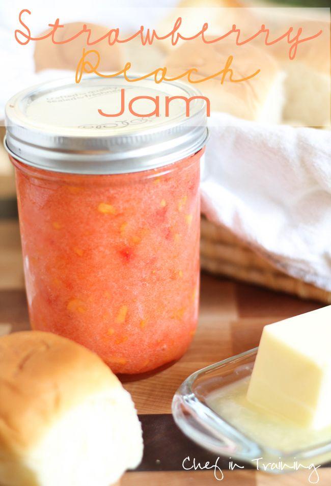 No-Cook Strawberry Peach Jam Recipe - All Natural & Good