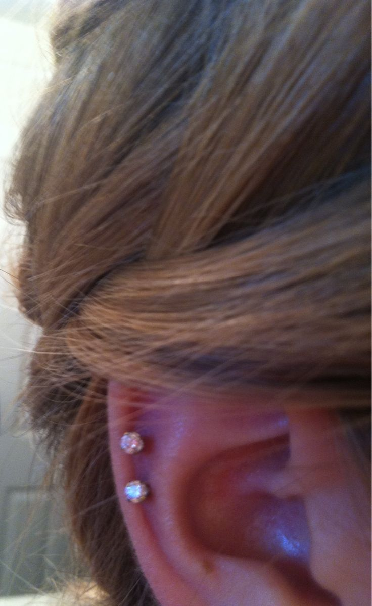 I want a double cartilage piercing.  ...which is a big deal for me.